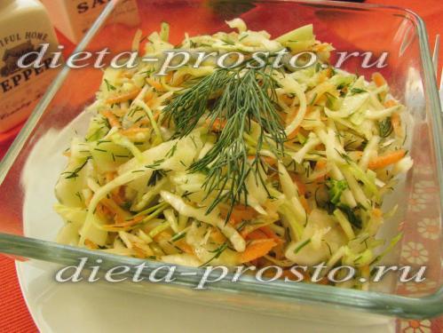 диетические рецепты из капусты белокочанной с фото