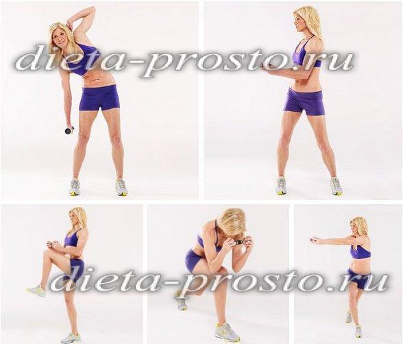 Упражнения для похудения живота и боков ягодиц
