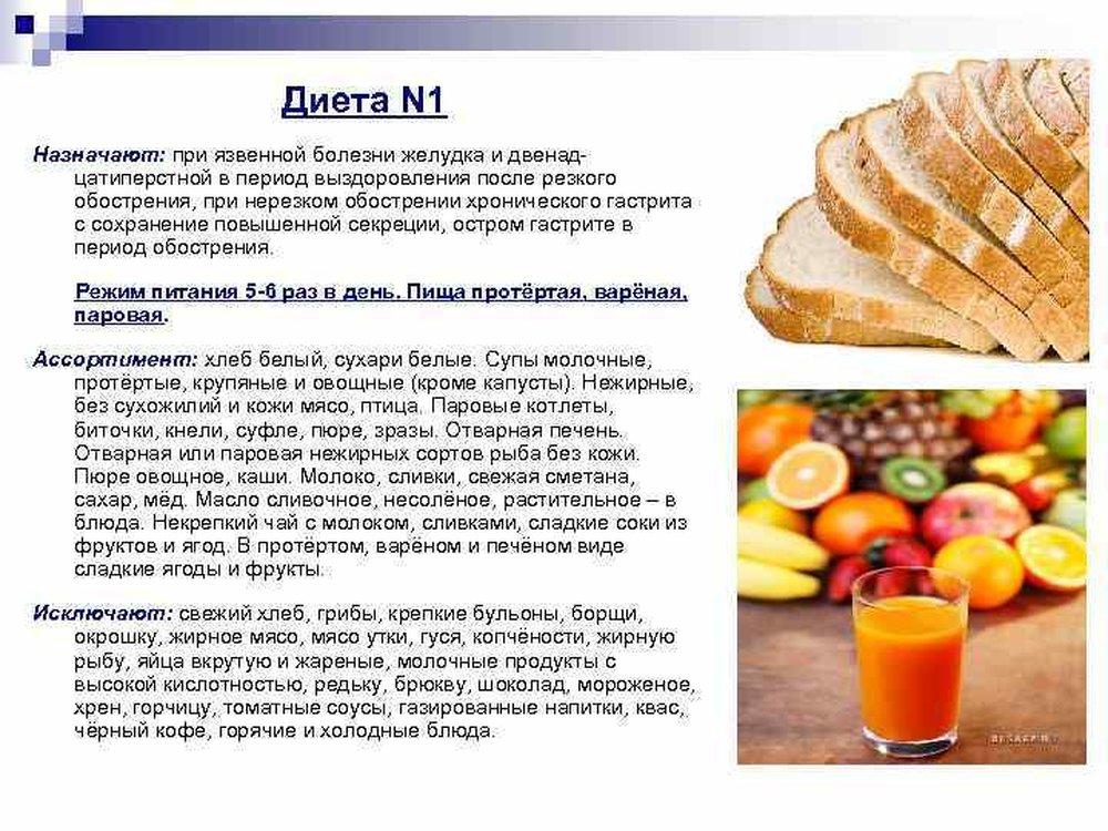 Какие фрукты можно при диете 1 стола