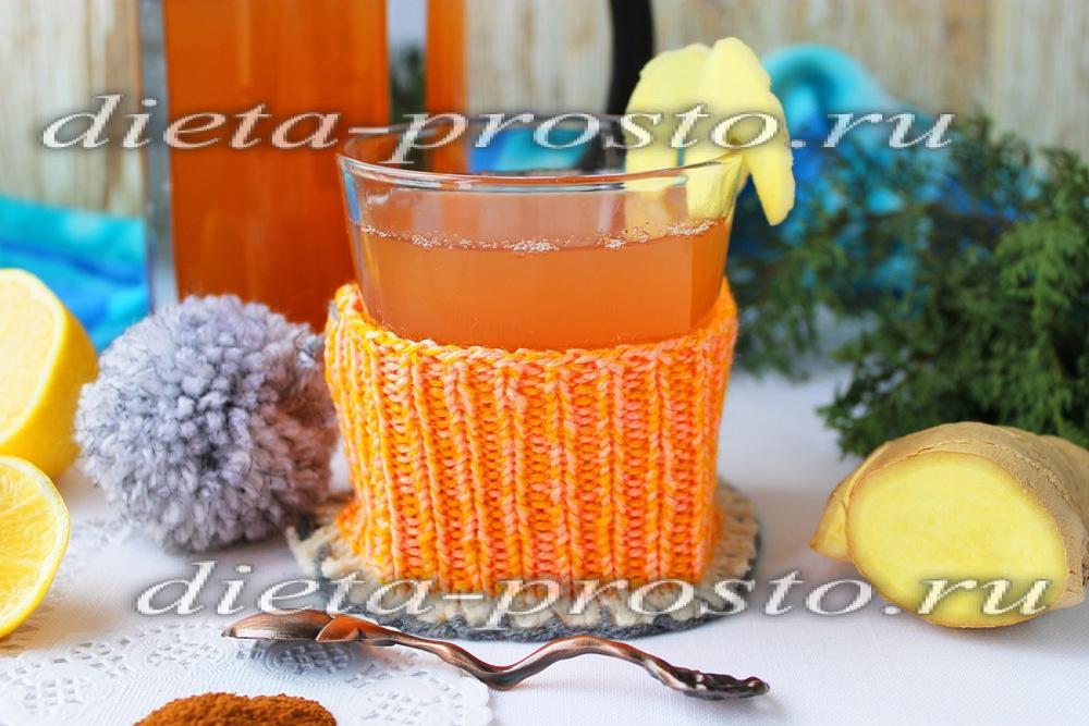 Чай для похудения с имбирем и мятой