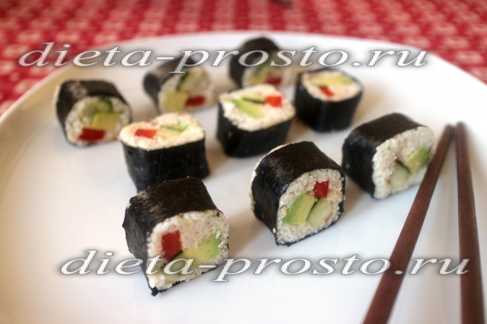 сыроедные роллы рецепты с рыбой