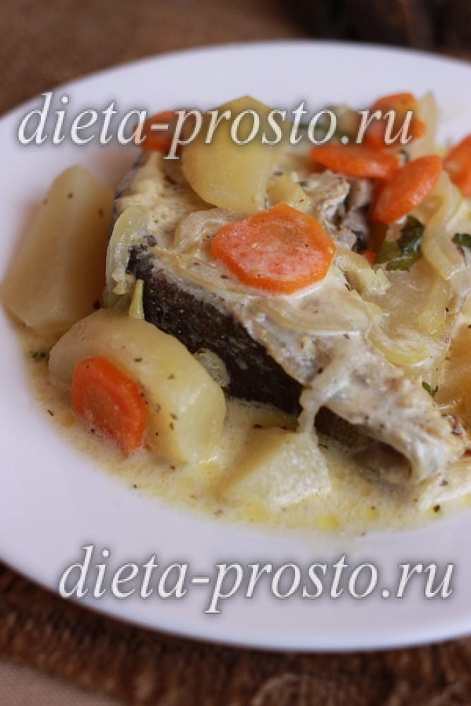 Овощи с рыбой в соусе 4