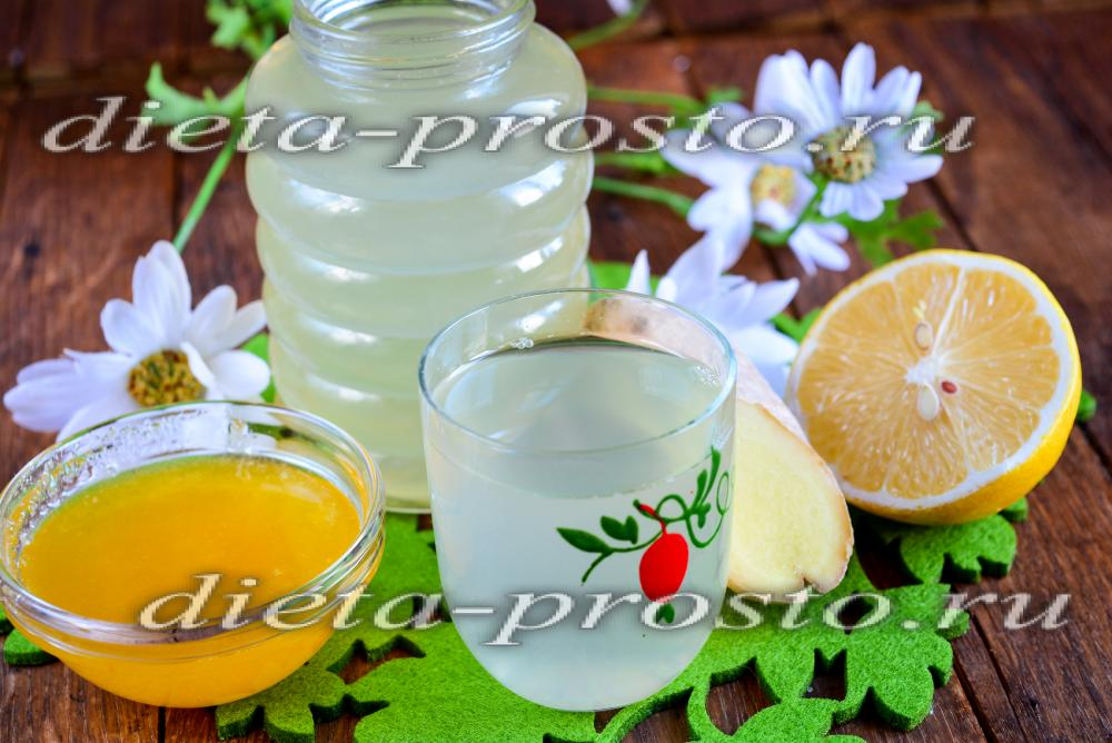 напиток из имбиря лимона огурца и меда рецепт