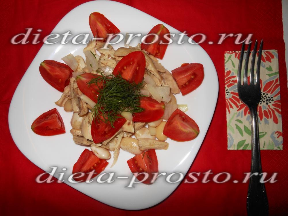 Диетические салаты из фасоли рецепты
