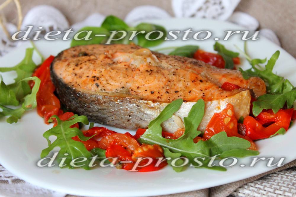 семга в овощами в фольге в духовке рецепт с фото