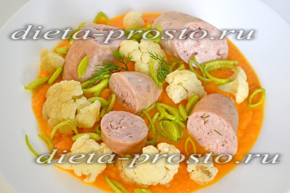 рецепт куриных колбасок на пару