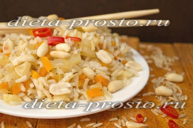 Бурый рис с острым чатни (3, 4 этап диеты Дюкана)