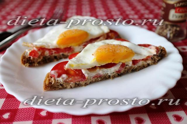 Горячий бутерброд с яйцом на завтрак