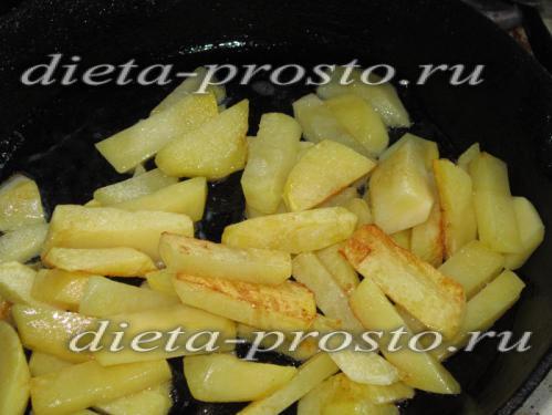 картошку жарить до корочки