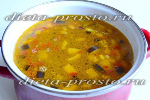 Варим суп до готовности картофеля