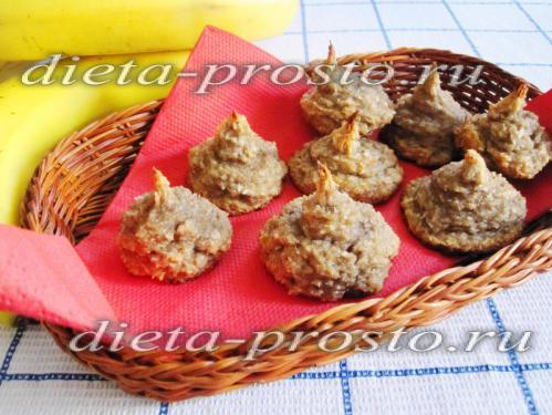 Печенье из бананов и кокосовой стружки