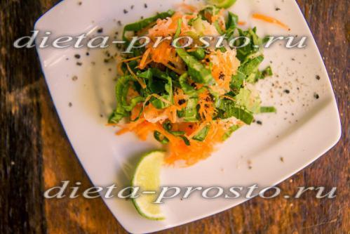 Диетический салат из шпината