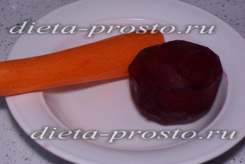 подготовить морковь и свеклу
