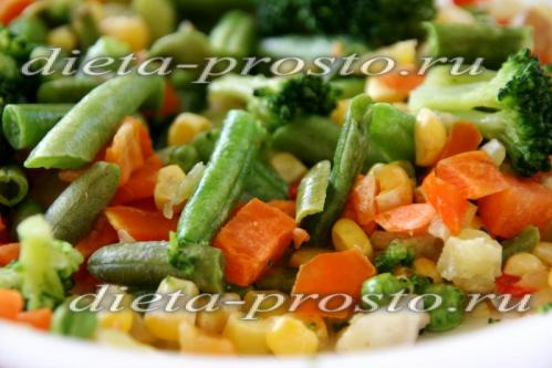 овощи разморозить полностью