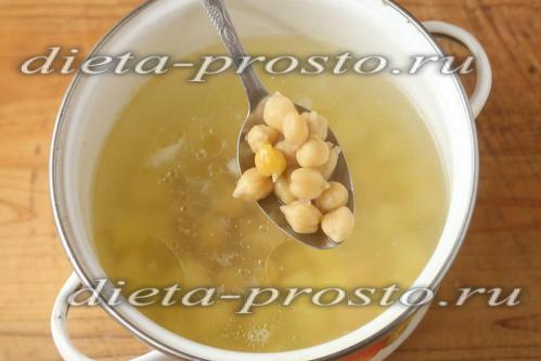 Добавить в суп готовый нут