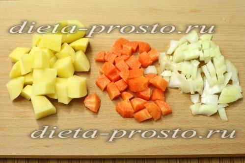нарежем овощи для супа