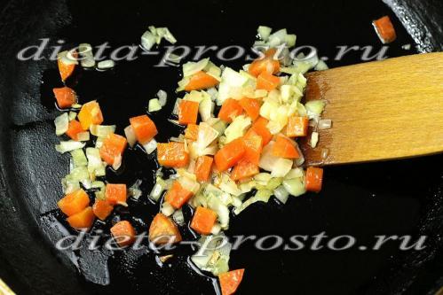 пассеруем овощи для поджарки